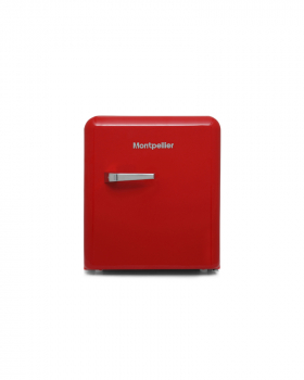 Montpellier MAB50R Table Top Retro Fridge in Red