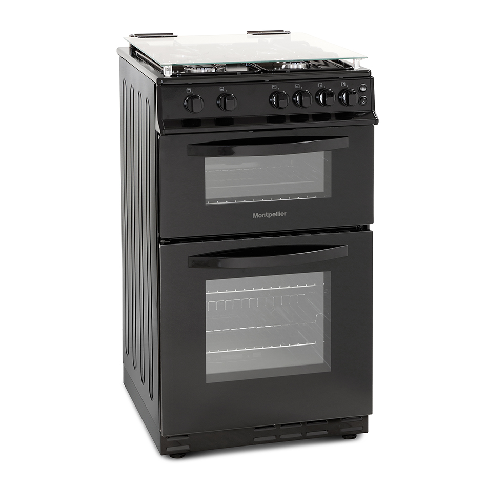 Montpellier MDG500LK 50cm Gas Double Oven
