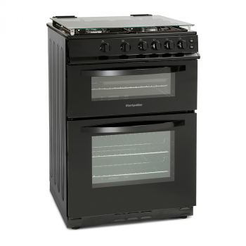Montpellier MDG600LK 60cm Gas Double Oven