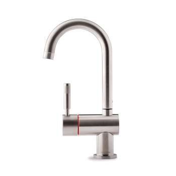 Montpellier One Stream Brushed Swan Spout Hot Tap