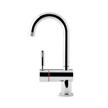 Montpellier One Stream Chrome Swan Spout Hot Tap